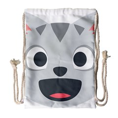 Cat Smile Drawstring Bag (large) by BestEmojis