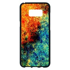 Orange Blue Background Samsung Galaxy S8 Plus Black Seamless Case