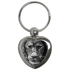 My Lion Sketch Key Chains (heart)  by 1871930
