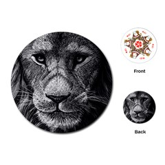 My Lion Sketch Playing Cards (round)  by 1871930