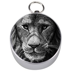My Lion Sketch Silver Compasses by 1871930
