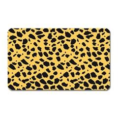 Skin Animals Cheetah Dalmation Black Yellow Magnet (rectangular) by Mariart
