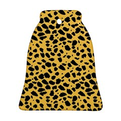 Skin Animals Cheetah Dalmation Black Yellow Bell Ornament (two Sides) by Mariart