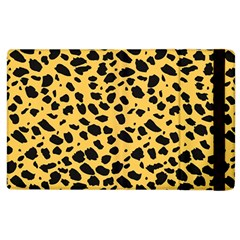 Skin Animals Cheetah Dalmation Black Yellow Apple Ipad 3/4 Flip Case by Mariart