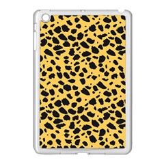 Skin Animals Cheetah Dalmation Black Yellow Apple Ipad Mini Case (white) by Mariart