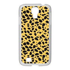 Skin Animals Cheetah Dalmation Black Yellow Samsung Galaxy S4 I9500/ I9505 Case (white) by Mariart