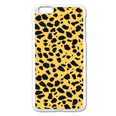 Skin Animals Cheetah Dalmation Black Yellow Apple iPhone 6 Plus/6S Plus Enamel White Case by Mariart