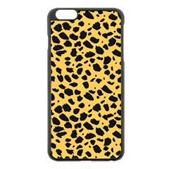 Skin Animals Cheetah Dalmation Black Yellow Apple iPhone 6 Plus/6S Plus Black Enamel Case by Mariart