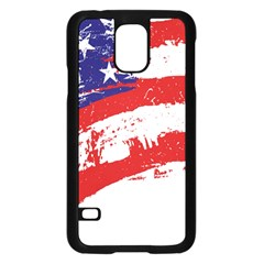 Red White Blue Star Flag Samsung Galaxy S5 Case (black) by Mariart