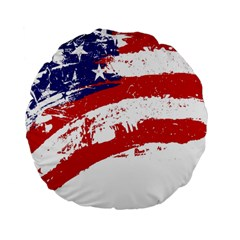 Red White Blue Star Flag Standard 15  Premium Flano Round Cushions by Mariart