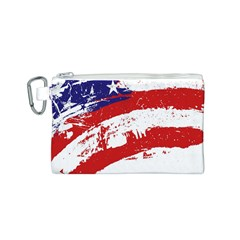 Red White Blue Star Flag Canvas Cosmetic Bag (s) by Mariart