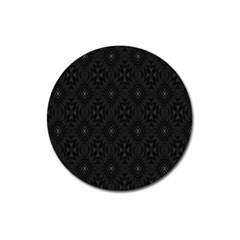 Star Black Magnet 3  (round) by Mariart