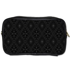 Star Black Toiletries Bags 2 Side by Mariart