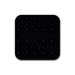 Star Black Rubber Square Coaster (4 Pack)  by Mariart