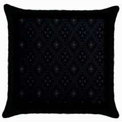 Star Black Throw Pillow Case (black)