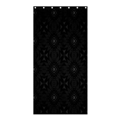 Star Black Shower Curtain 36  X 72  (stall)  by Mariart