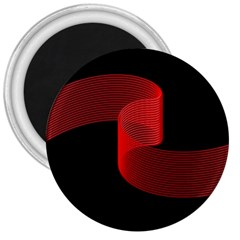 Tape Strip Red Black Amoled Wave Waves Chevron 3  Magnets by Mariart