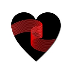 Tape Strip Red Black Amoled Wave Waves Chevron Heart Magnet by Mariart
