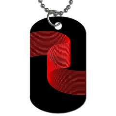Tape Strip Red Black Amoled Wave Waves Chevron Dog Tag (one Side) by Mariart