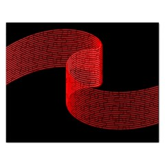 Tape Strip Red Black Amoled Wave Waves Chevron Rectangular Jigsaw Puzzl by Mariart