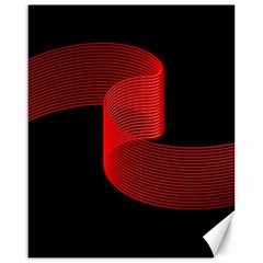 Tape Strip Red Black Amoled Wave Waves Chevron Canvas 16  X 20   by Mariart