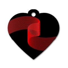 Tape Strip Red Black Amoled Wave Waves Chevron Dog Tag Heart (two Sides) by Mariart