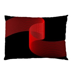 Tape Strip Red Black Amoled Wave Waves Chevron Pillow Case by Mariart