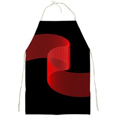 Tape Strip Red Black Amoled Wave Waves Chevron Full Print Aprons by Mariart