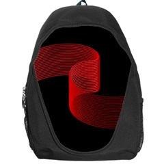 Tape Strip Red Black Amoled Wave Waves Chevron Backpack Bag by Mariart