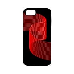 Tape Strip Red Black Amoled Wave Waves Chevron Apple Iphone 5 Classic Hardshell Case (pc+silicone) by Mariart