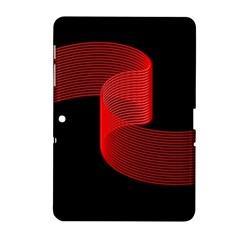 Tape Strip Red Black Amoled Wave Waves Chevron Samsung Galaxy Tab 2 (10 1 ) P5100 Hardshell Case  by Mariart