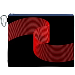 Tape Strip Red Black Amoled Wave Waves Chevron Canvas Cosmetic Bag (xxxl) by Mariart