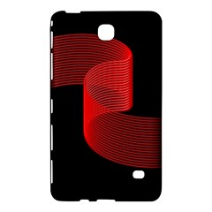Tape Strip Red Black Amoled Wave Waves Chevron Samsung Galaxy Tab 4 (8 ) Hardshell Case  by Mariart