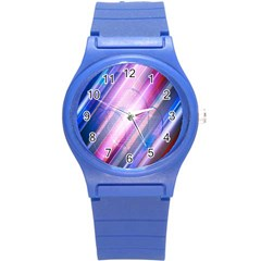 Widescreen Polka Star Space Polkadot Line Light Chevron Waves Circle Round Plastic Sport Watch (s) by Mariart