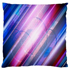 Widescreen Polka Star Space Polkadot Line Light Chevron Waves Circle Large Cushion Case (two Sides) by Mariart