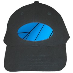 Technical Line Blue Black Black Cap by Mariart