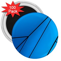 Technical Line Blue Black 3  Magnets (100 Pack) by Mariart