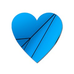 Technical Line Blue Black Heart Magnet by Mariart