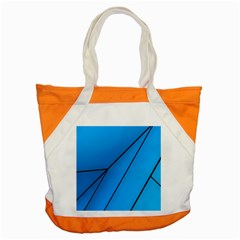 Technical Line Blue Black Accent Tote Bag by Mariart