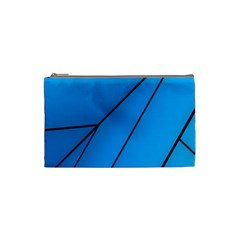 Technical Line Blue Black Cosmetic Bag (small)  by Mariart