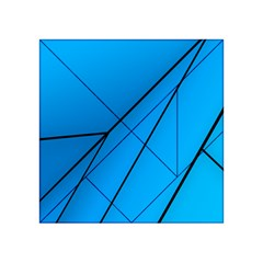 Technical Line Blue Black Acrylic Tangram Puzzle (4  X 4 ) by Mariart