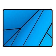 Technical Line Blue Black Double Sided Fleece Blanket (small)  by Mariart