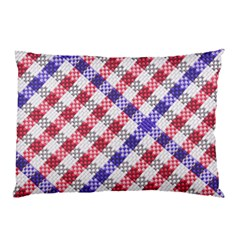 Webbing Wicker Art Red Bluw White Pillow Case (two Sides) by Mariart