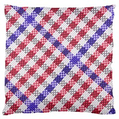 Webbing Wicker Art Red Bluw White Large Cushion Case (two Sides) by Mariart