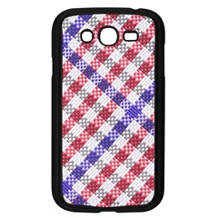 Webbing Wicker Art Red Bluw White Samsung Galaxy Grand Duos I9082 Case (black) by Mariart