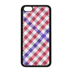 Webbing Wicker Art Red Bluw White Apple Iphone 5c Seamless Case (black) by Mariart
