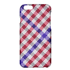 Webbing Wicker Art Red Bluw White Apple Iphone 6 Plus/6s Plus Hardshell Case by Mariart
