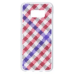 Webbing Wicker Art Red Bluw White Samsung Galaxy S8 Plus White Seamless Case by Mariart