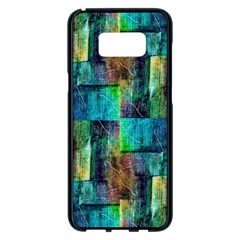 Abstract Square Wall Samsung Galaxy S8 Plus Black Seamless Case by Costasonlineshop