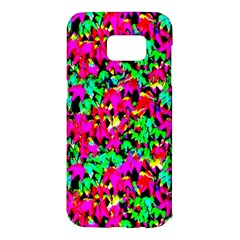 Colorful Leaves Samsung Galaxy S7 Edge Hardshell Case by Costasonlineshop